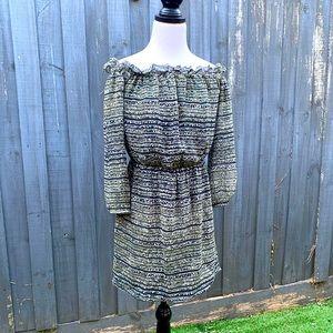 Kookai off shoulder chiffon silk dress size 38
